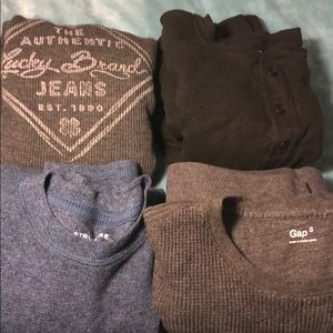 LOT OF 4 -long sleeve thermal tees